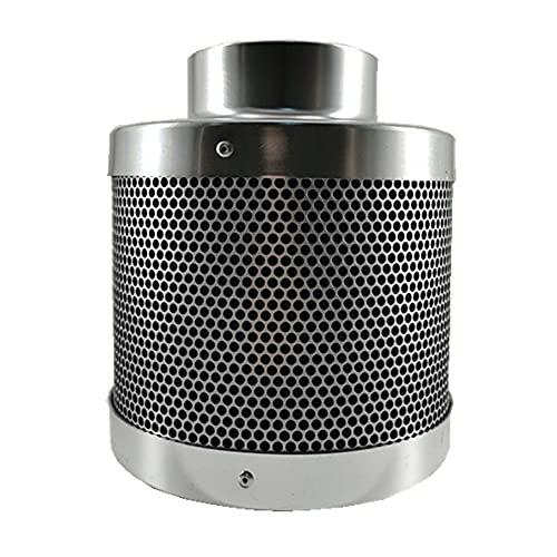 Yousiju Purificador de aire con filtro de carbono de 4 pulgadas con prefiltro para ventilador en línea Hidroponía Verde Interior Jardinería Ventilación de carpa de cultivo 100 mm