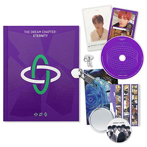 Tomorrow X Together TXT Album - The Dream Chapter : Eternity [ PORT ver. ] CD + Photobook + Paper Sticker + Photocards + Tu Illust Card + OFFICIAL POSTER + FREE GIFT