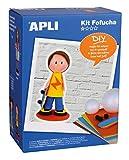 APLI Kids- Fofucha Kit Muñeca, Niño, Multicolor (13844)