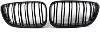 mewmewcat Grelha de pára-choques dianteira preta brilhante 2 unidades Grelhas de rim compatíveis com BMW Série 2 F22 F23 2...