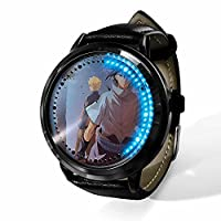 NARUTO ナルト腕時計 LEDウォッチ 時計 メンズ レディース 電池付き Puレザー クオーツ カジュアル ブレスレット 人気 男女兼用 学生 恋人 シンプル 高級感 プレゼント 防水-A