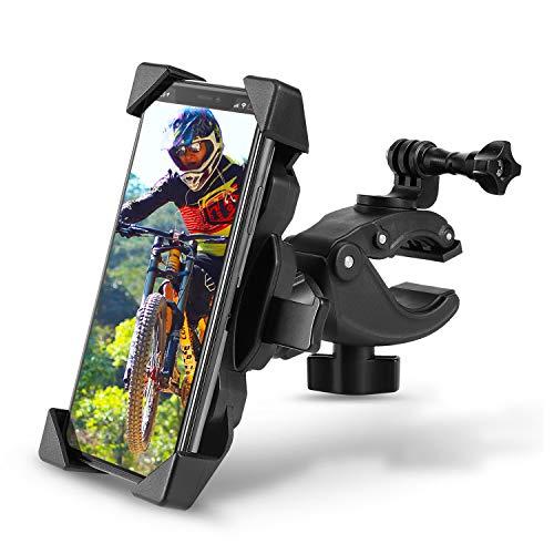 Handyhalterung Fahrrad Motorrad Handyhalter für 4-6,5 Zoll Smartphone, LuenHego Handy Fahrradhalterung mit 360° Drehbar/Actionkamera Halterung Kompatibel mit 16-60mm Lenker