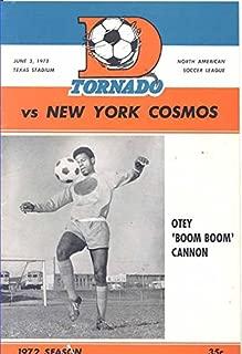 Dallas Tornado Soccer Program Vs. New York Cosmos June 3, 1972 (Otey