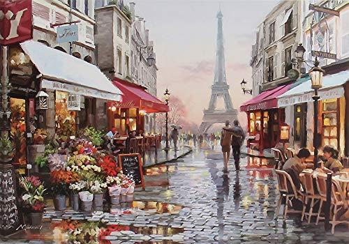 Vicloon Puzzle 1000 Teile, Erwachsenenpuzzle mit Romantische Paris Poster, Farbenfrohes Puzzle für Erwachsene und Kinder ab 14 Jahren - 70x50cm