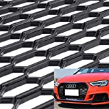 uyoyous Universal ABS Plastic Racing Honeycomb Mesh 47x16 Inches Honeycomb Hex Mesh Grill Spoiler Bumper Vent Universal Car Styling Air Intake Racing Grilles