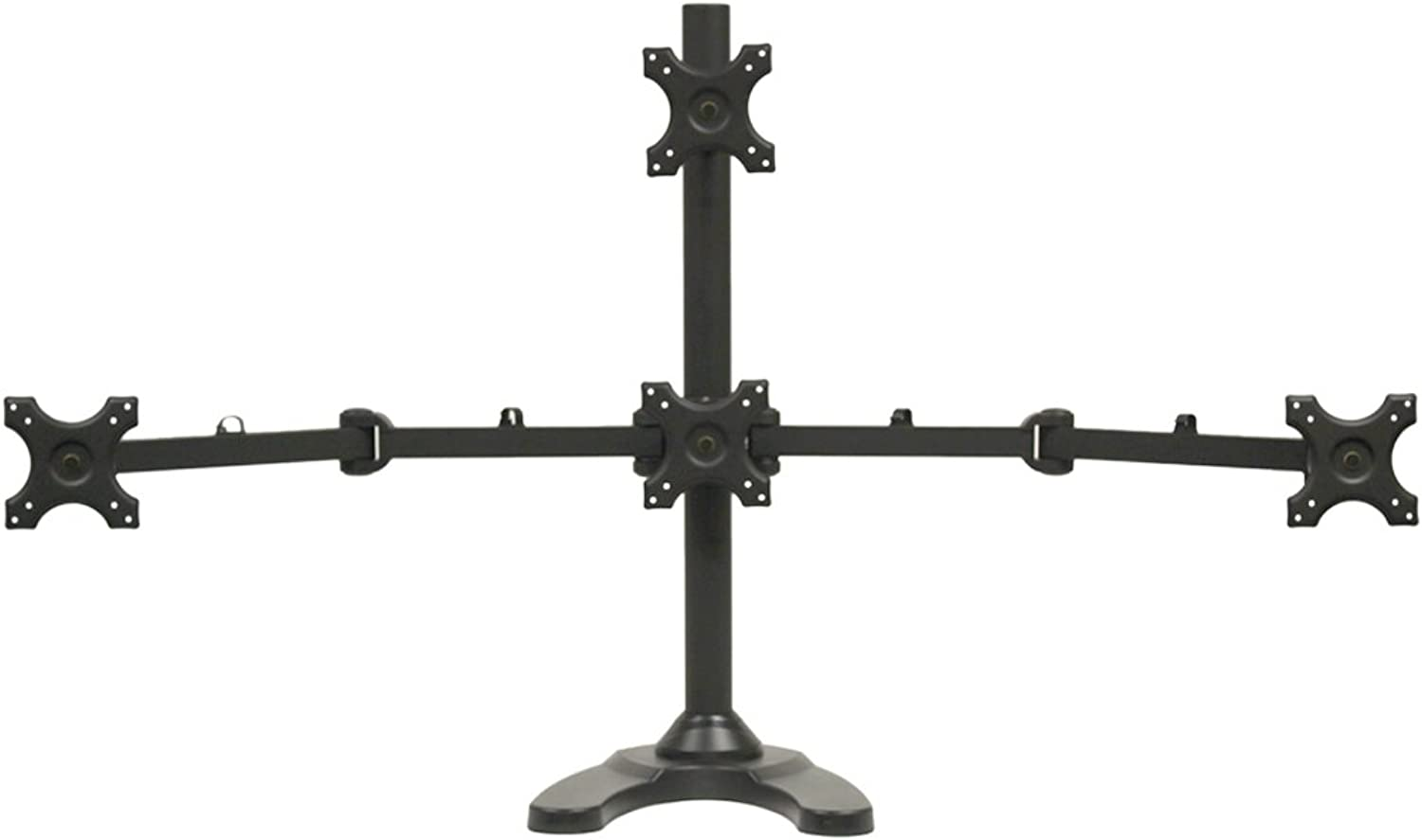 NavePoint Quad LCD Monitor Stand Mount Free Standing Adjustable 4 (1 + 3) up to 24