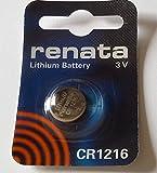 Renata CR1216-Lote de 2 pilas de litio, 3 V