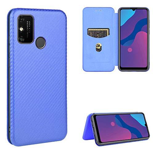 Miagon Huawei P Smart 2020 Brieftasche Hülle mit Kohlefaser Textur,PU Leder Schutzhülle mit Kartenfach Handyhülle Tasche Etui Folio Flip Cover Case Tasche für Huawei P Smart 2020