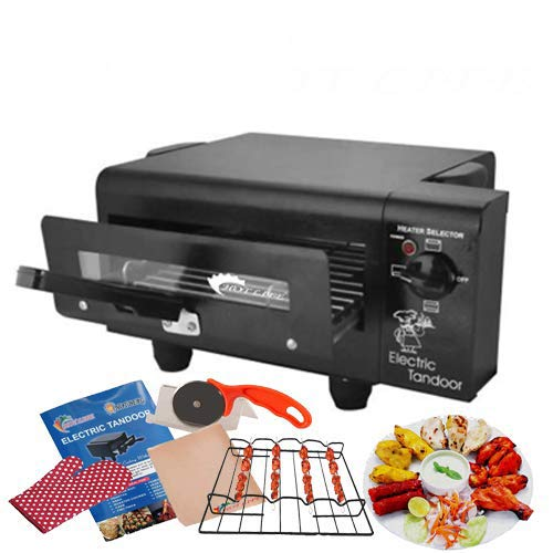HOT LIFE Steel 1500W on/Off Regulator System Small Family Size Electric Tandoor Barbecue Grill Heating Element (Black)