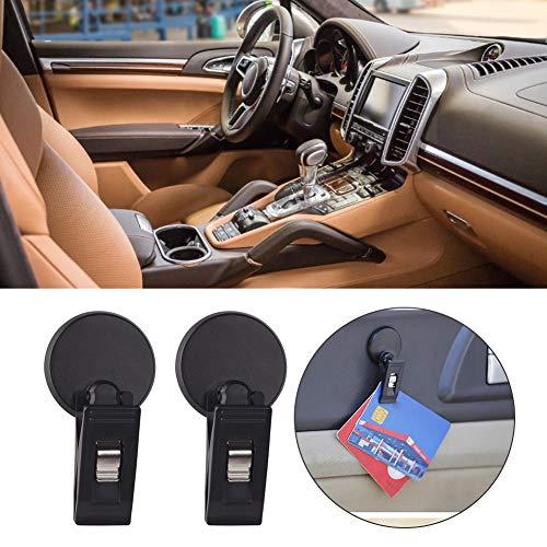 lembrd Parkscheinhalter Notizzettelhalter Autoclip, 2 Stück Auto Access-Kartenhalter Ticket Glasses Clip Mehrzweckklemme Autozubehör