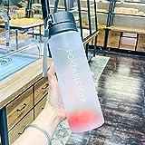 Bottiglia di acqua sportiva in plastica da 600/800 ml, grande capacità, per esterni, opaca, per uomini, donne, bambini, studenti, per tazze, 600 ml, bottiglia d'acqua 02