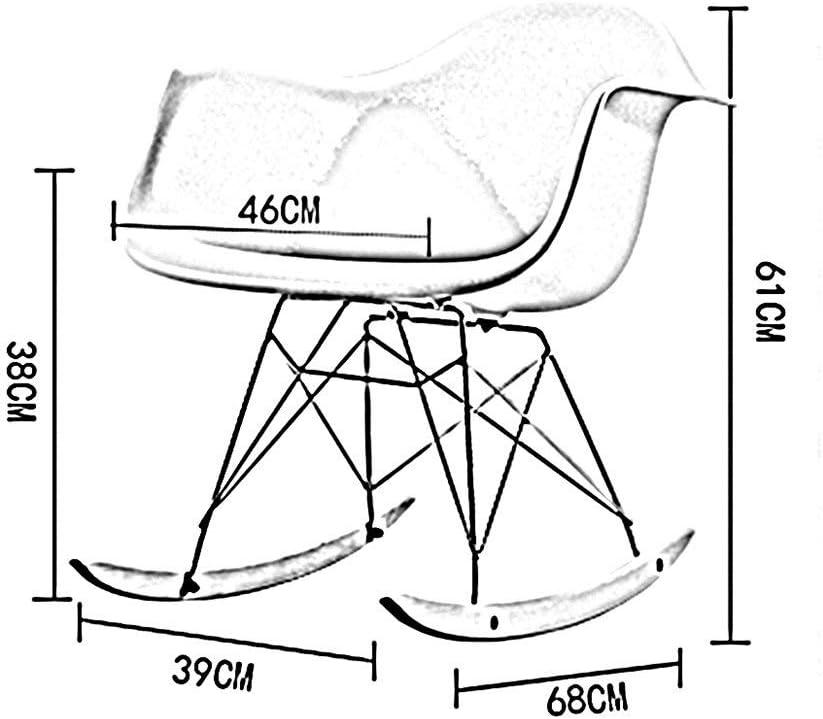 Dossier Chaise de Salle à Manger Chaise de réception Ménage Paresseux Loisir Restaurant Familial Office Café Rocking Chair en Bois Massif (Color : G) D