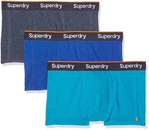 Superdry Herren Sport Trunk Sportunterwäsche, Blau (Regal Blue/Navy Marl/Hawaii Blue), XXL