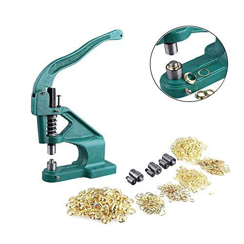 Maquina Ojal,Máquina de Ojal Arandela de Máquina Prensa para Ojales Ojal Máquina de la Prensa 3 Troqueles Diferentes, Troqueles: 6 mm, 9 mm, 12 mm