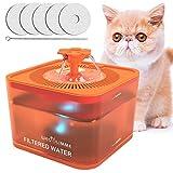 WEGOLIMME Bebedero Gatos   Perro 3L Automático Fuente para Gatos y Perros con 5 Filtros de Carbón Activado, Silencioso Súper, Inteligente LED Dispensador de Agua para Mascotas