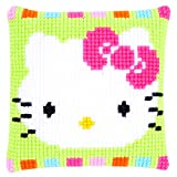 Vervaco PN-0153796 Ver - Cojín de Punto de Cruz diseño de Hello Kitty Colores Pastel
