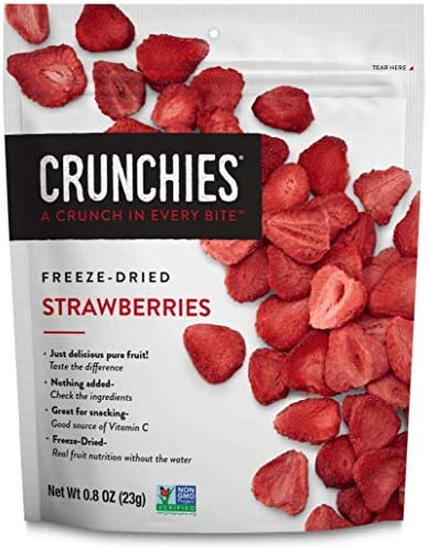 Crunchies Freeze Dried Strawberries 100 All Natural Crispy Snacks Gluten Free Vegan 0 8 Ounce product image