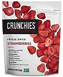 Crunchies Freeze-Dried Strawberries, 100% All Natural Crispy Snacks, Gluten Free & Vegan, 0.8 Ounce...