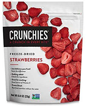 Crunchies Freeze-Dried Strawberries 100% All Natural Crispy Snacks Gluten Free & Vegan 0.8 Ounce  6 Pack
