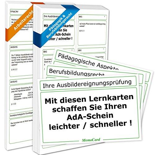AEVO-Lernkartei - Kompaktwissen zur Ausbildereignungsprüfung/zum AdA-Schein: für das Prüfungsjahr 2021