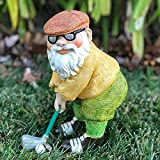 Yigenten 1/2Pcs Gartenzwerg-Statue, Old Man Golf Resin Crafts Statue, Zwerg-Elf-Figuren für Outdoor-Patio-Rasen-Veranda-Desktop-Dekor (Small)