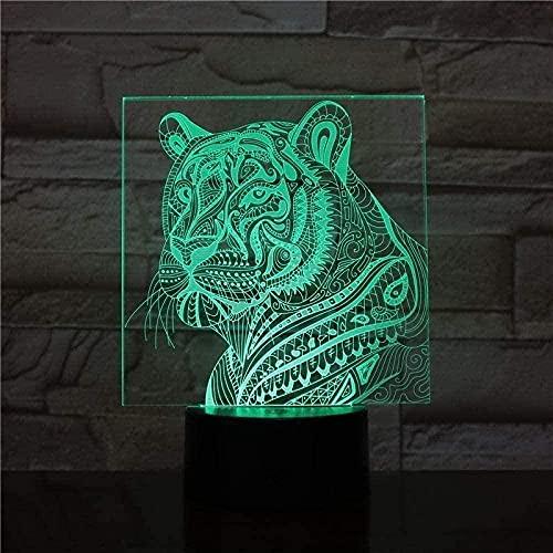 Luz nocturna 3D de moda regalo 3D lámpara de ilusión LED interruptor táctil 16 colores cambiantes USB lámpara de escritorio dormitorio decoración iluminación para niños juguetes de cumpleaños A8-A17