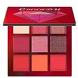 Thatso 9 Colors Eyeshadow Palette Makeup Set Matte Shimmer Glitter Pressed Pigmented Blending Powder Diamond Gloss Eye Shaow (C)