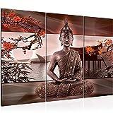 Decoración de la mesa de Buda Mural - 120 x 80 cm Vista de impresión en lienzo...