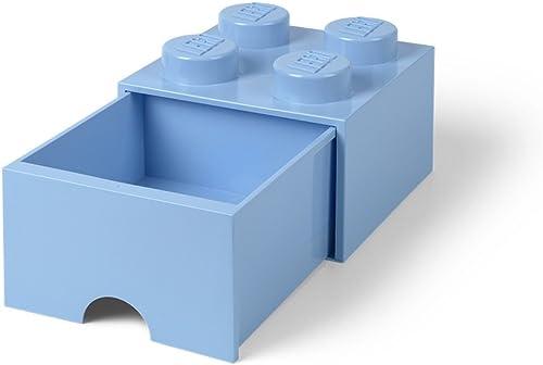gran descuento LEGO Brick Drawer, Drawer, Drawer, 4 Knobs, 1 Drawer, Stackable Storage Box, Light azul  El nuevo outlet de marcas online.
