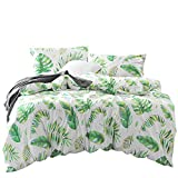 Wake In Cloud - Tree Leaves Duvet Cover Set, 100% Cotton Bedding,...