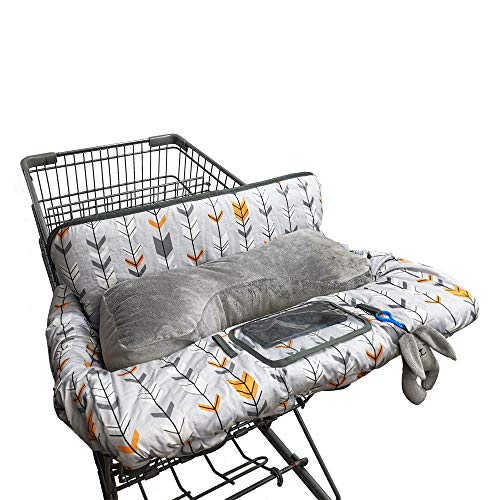 Shopping Cart Cover for Baby Cotton, Minky Bolster Positioner, 6.5' Cellphone...