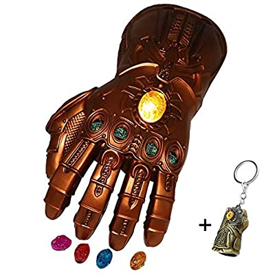 Avengers 4 Endgame Iron Man Infinity Gauntlet Hulk Thanos Captain America Thor Cosplay (Infinity Gauntlet Movable Gems)