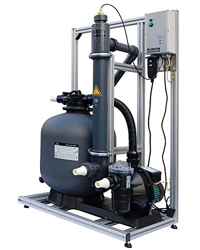 Système de filtration PURION 80 avec système UV pour piscines jusqu'à 90m³ avec surveillance de la durée de vie.