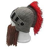 Metyou Peluca para barba, sombreros hechos a mano, de punto, cálido, para invierno, máscara divertida, para hombres y mujeres