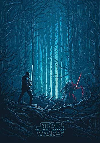 Puzzle 1000 Piezas,Carteles de películas de Star Wars: El despertar de la fuerza,DIY Arte Rompecabezas, Intelectual Educativo Rompecabezas, Divertido Juego Familiar Puzzle