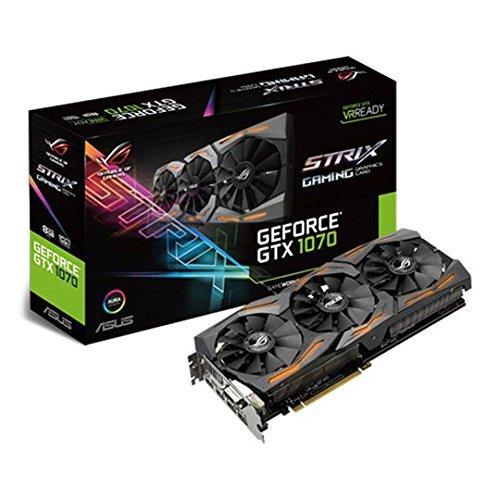 Asus GeForce GTX 1070 Strix-8G Gaming Grafikkarte (Aktiv, NVIDIA, Geforce GTX 1070, SDRAM, PCI Express 3.0, 7380X 4320Pixel)