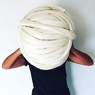 Lana merino gigante en 75 mm, lana de lujo para tejido XXL. Tejer y ganchillo para un plaid, cesta, maceta, bufandas, somb...