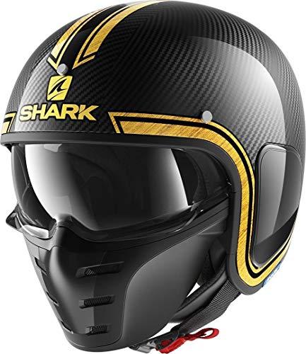 Shark S-Drak Carbon VINTA Casco de Moto, Hombre, Cromo Dorado, XXL