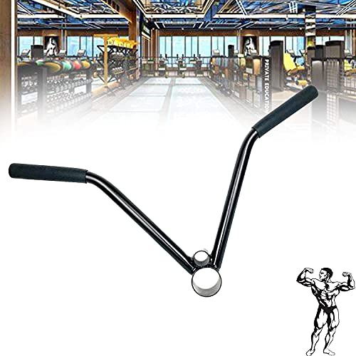 WSSCKT Barbell T-Bar Row Placa Post Insertar Minmina, Manija de la Fila de la Barra T, Asas de Espuma Cubiertas de Espuma para Levantar Peso, Entrenamiento con Pesas, Culturismo