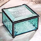 Graduation Gift Personalized Jewelry Box Engraved Glass Keepsake For High School Graduate Or College Grad Class Of 2020 Daughter, Granddaughter, Girl, Friend J Devlin Box 898 EB217-3 (Windsor Blue)