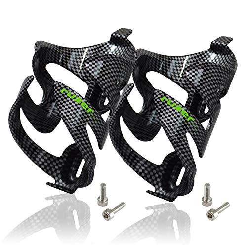 RUZER - Portabidones de fibra de carbono para bicicleta, 650 ml, universal, con tornillos