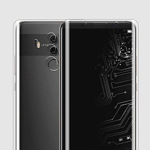 ONICOGEAR (Non di Vetro Temperato) per Huawei Mate 10 Pro Pellicola,TPU Originale Copertura Completa Trasparente Pellicola Protettiva per Huawei Mate 10 Pro(2 Anteriore & 2 Posteriore)