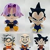 yskcsry 5 Stück / Set Anime Dragon Ball Super Son Goku Sonne Gohan Piccolo Plüschpuppen Spielzeug Weiches Stofftier Kindergeburtstag Feiertagsgeschenke 18Cm