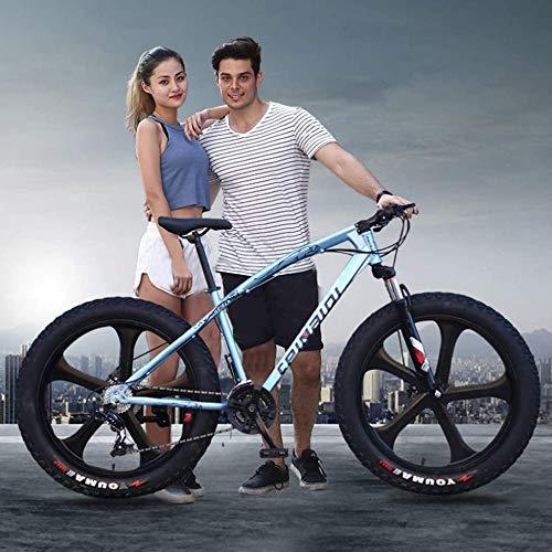 TRGCJGH Mountain Bike Bicicletta con Doppio Disco Rigido in Acciaio al Carbonio Ad Alto Tenore di Carbonio Bicicletta 7/21/24/27 velocità Assorbimento degli Urti Bicicletta,26inches-27Speed