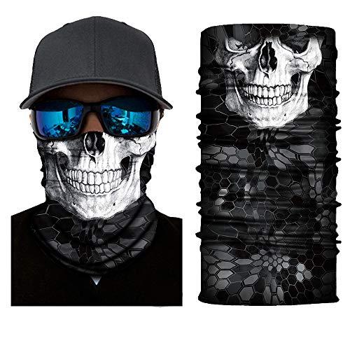 Gedrukte multifunctionele doek slangsjaal voor motorfiets, fiets, skiën, knchenmann, hoofddoek, hoofdband, sjaal, hippie, unisex flexibel outdoordoek Eén maat A1.
