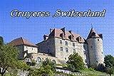 NHJUIJ Puzzle 1 000 Rompecabezas Rompecabezas de Castillo de Gruyères, Suiza Adultos niños Art Creativo Rompecabezas Navidad
