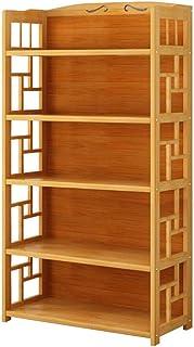 WWWANG Estantería para libros, 5 animales, bambú, organizador de almacenamiento, diseño en la parte trasera, 80 x 25 x 140 cm (color: NCCQUKQ, tamaño: NCCQUKQ)