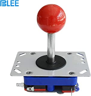 BLEE 4/8 Way Adjustable Arcade Joystick PC Fighting Stick Parts for Video Game Arcade (Red Ball,48mm Stick )