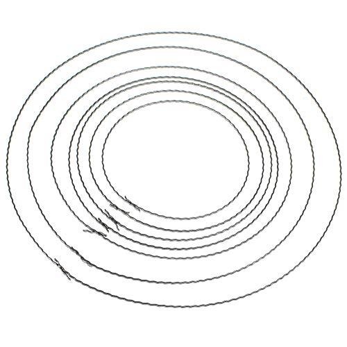 Floral-Direkt Kranzreifen Wellenring Bindering gewellt Unterbau für Kränze und Gestecke Kranzringe, Menge:1 St, Größe:25 cm Ø