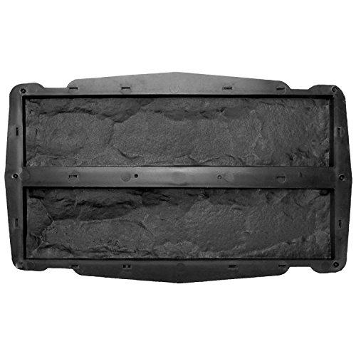 @tec Betonform Schalungsform Gießform Plastikformen für Beton,Naturstein Klinker/Wandverkleidung/Wandverblender/Verblendsteine für innen/außen, 2in1 Riemchen Stein-/Bruchsteinoptik 7,5 x 30,5 cm